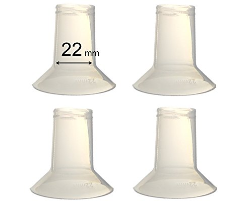 Maymom Breast Pump Reducing Flanges For Ameda Purely Yours Breast Pump, Bpa Free, 22 Mm - 4 Pack front-376681