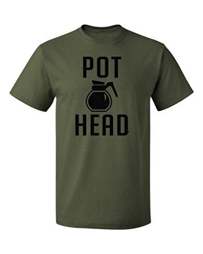 PB-Coffee-Pot-Head-Mens-T-shirt-S-Military