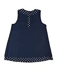 Frugi Little Hannah Reversible Organic Cotton Dress Navy Spots from Frugi