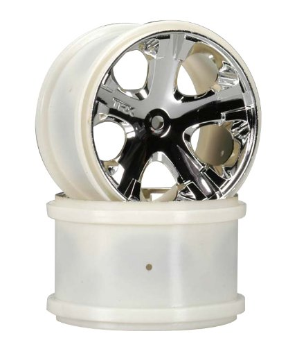 Traxxas 3772 Chrome All-Star Wheels 2.8 Rear, 2-Piece (Colors May Vary) - 1