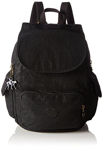 Kipling  City Pack S Bp, Zaino Casual  Unisex - Adulto, Nero (Noir (Black Leaf)), Taille Unique