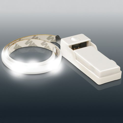 Led Light Strip - Flexible Adhesive 24 Inches Battery Powered White Light