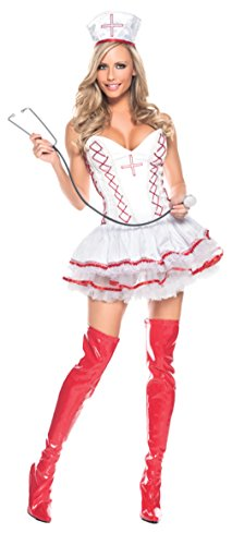 Be Wicked Womens Home Care Nurse Sexy Medical Theme Party Halloween Costume