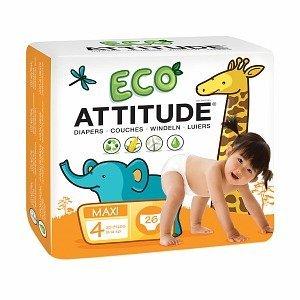 Attitude Eco-Friendly Baby Diapers, Maxi, Size 4, 26 ea 1 ea