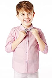 Autograph Pure Cotton Shirt with Bow Tie