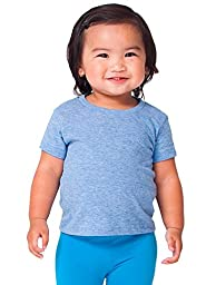 American Apparel Kids Infant Tri-Blend Short Sleeve T-Shirt Size 12-18M Athletic