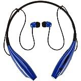 WONFAST® HV-800 Wireless Bluetooth Music Stereo Universal Headset Headphone Vibration Neckband Style for iPhone iPad Samsung Blue
