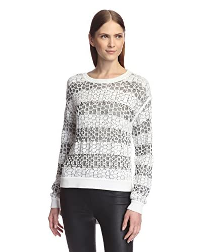 Derek Lam 10 Crosby Women's Cropped Front Crewneck Sweater