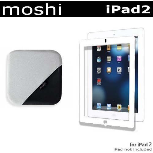 Moshi Accessories Kit For Apple iPad 2 2nd Generation Tablet (16GB, 32GB, 64GB, Wifi, AT&T 3G, Verizon 3G,) NEWEST MODEL Includes iVisor AG (Anti Glare) Screen Protector for iPad 2 - White (99MO020909) + TeraGlove Microfiber Screen Cleaner