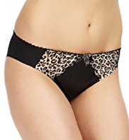 Limited Collection No VPL Low Rise Animal Print Brazilian Knickers