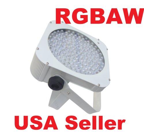 Led Slim Flat Rgbaw Par 64 Can Puck Style Dmx Dj Uplighting Light White Housing