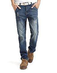 Demon&Hunter Classic Series Men's Regular Straight Leg Jeans 8019(32)