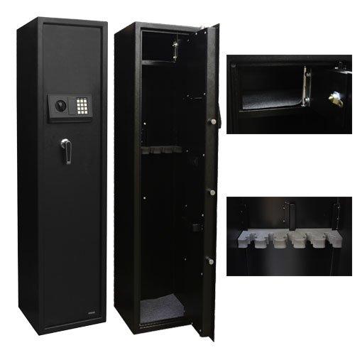 XtremepowerUS Security Plus 5 Rifle Gun keyless Electronic PIN keypad Storage Cabinet Safe Box
