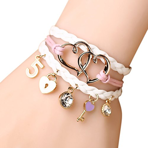 Time Pawnshop Sweet Love Lock 2 Heart Braided Charm Bracelet (Heartland Tv Show Merchandise compare prices)