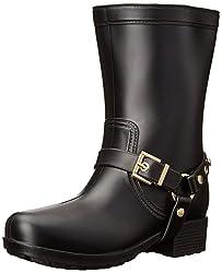 Dirty Laundry Womens Railroad PVC Rain Boot, Black, 6 M US