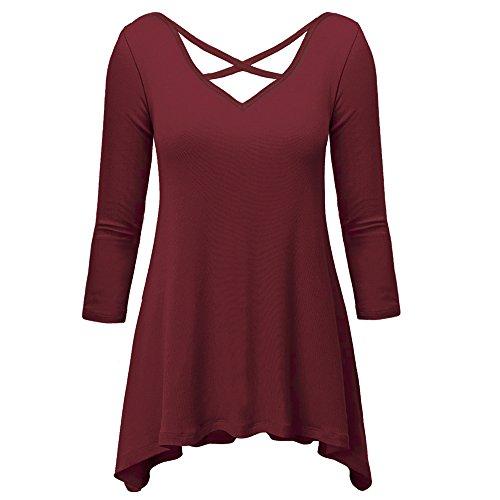 pzz-womens-v-neck-2-3-sleeve-wide-hem-basic-undershirt-t-shirt-wine-red-l
