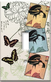 Switch Plate Cover Art Three Geishas Asian Themed S