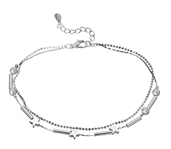 Silver Shoppee Resplendence Sterling Silver Anklet For Girls