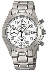 Seiko Men's SNA379 Alarm Chronograph Titanium Watch