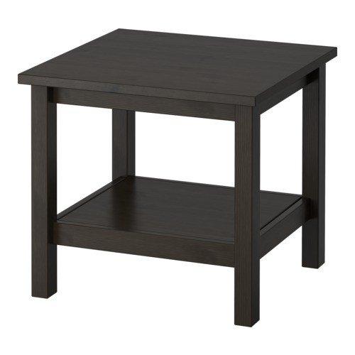 IKEA-HEMNES-Beistelltisch-schwarz-braun-55x55-cm