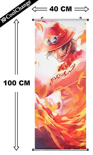 coolchange-grosses-one-piece-rollbild-kakemono-aus-stoff-poster-100x40cm-motiv-puma-d-ace-bild-2