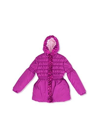 Pink Platinum Kid's Grosgrain Detail Puffer Jacket