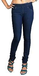 Fashion Stylus Women's Jeggings (FST-601-32, Blue, 32)