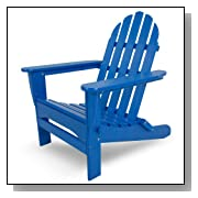 Classic Recycled Plastic Adirondack Chair Blue