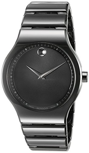 Movado-Mens-Swiss-Quartz-Ceramic-Casual-Watch-ColorBlack-Model-0607047