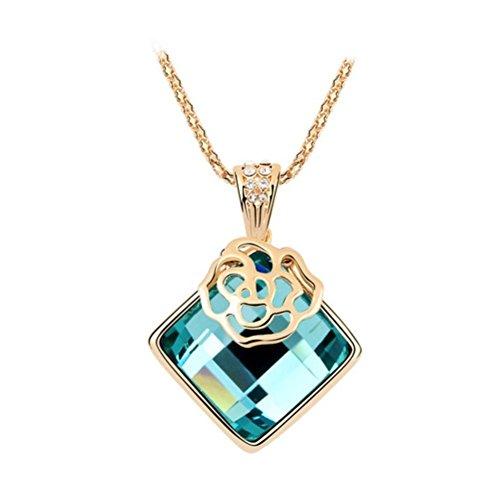 NL-02115C1 Alloy Simple Diamond Inlaid Crystal Women Necklace