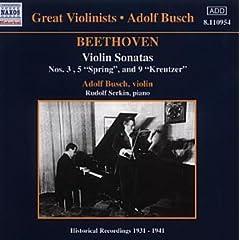 輸入盤CD A.ブッシュ(Vn)&R.ゼルキン(P) ベートーヴェン:ヴァイオリン・ソナタ No.3, 8《春》&9《クロイツェル》の商品写真