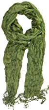 LibbySue-Solid Lightweight Crinkle Scarf