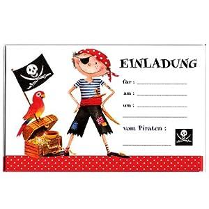 Einladungskarten Pirat Kinder Geburtstag Kindergeburtstag: Amazon.de ...