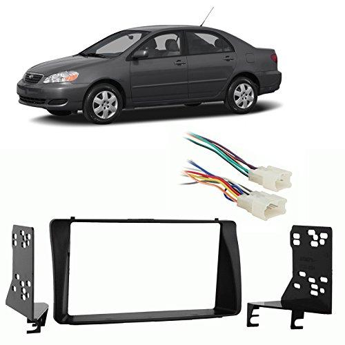 Fits Toyota Corolla 2003-2008 Double DIN Harness Radio Install Dash Kit (2004 Toyota Corolla Accessories compare prices)
