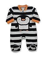 Pitter Patter Baby Gifts Pijama (Blanco / Negro)