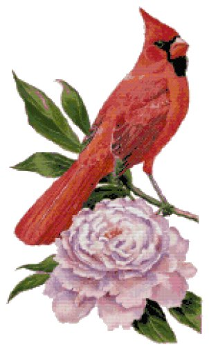 Indiana State Symbol Counted Cross Stitch Pattern