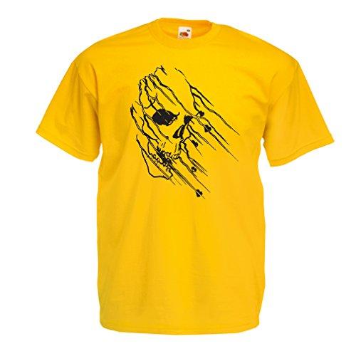 n4686-t-shirt-pour-hommes-art-skull-vintage-t-shirts-large-jaune-multicolore
