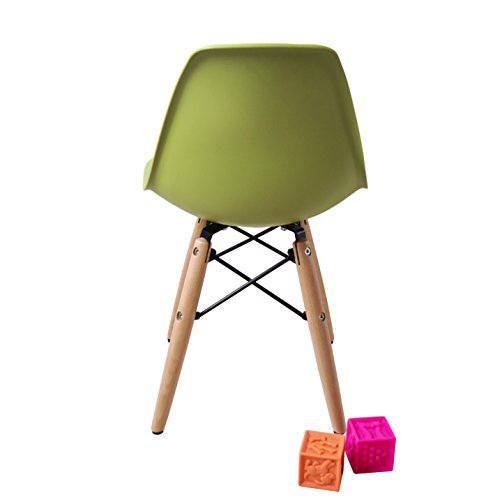 Eames office chair no arms - Buschman Set Of Two 2 Green Kids Eames Style Retro
