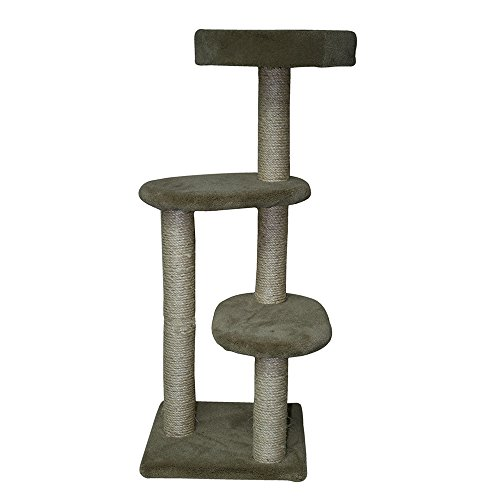Classy Kitty 40.5″ 3 Story Cat Tree with Nest 15x15x40.5