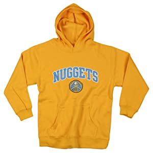 Denver Nuggets NBA Basketball Youth Hoodie, Hooded Sweatshirt, Yellow (X-Small (4-5))