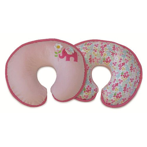 Boppy Luxe Pillow Elephant Garden front-911982