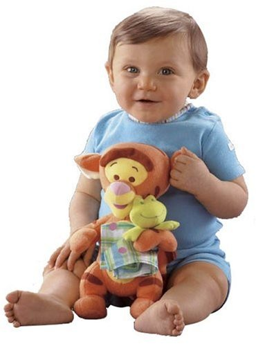 "Winnie the Pooh Baby's First Friend 9"" Plush: Tigger with Frog and Blanket - 1"