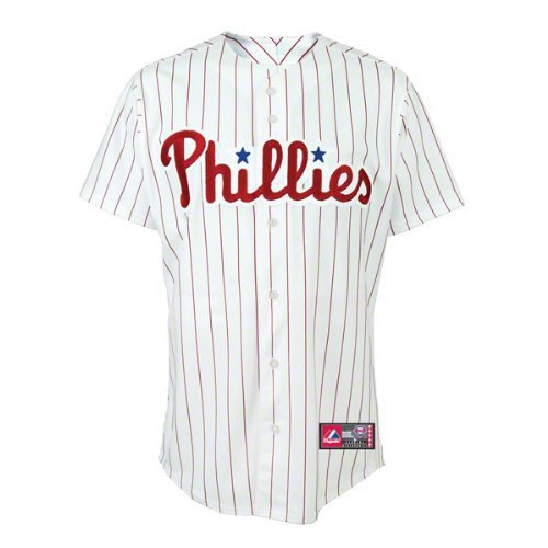 MLB Philadelphia Phillies Home Replica Baseball Youth Jersey, White/Red, Medium at Amazon.com