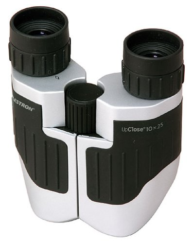 Celestron Upclose 10X25 Compact Porro Prism Binoculars (Silver/Black)