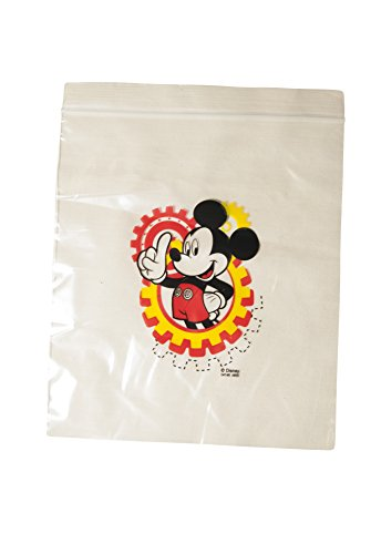Disney Sandwich Snack Resealable Ziploc Bags, Mickey, 1-Pack (20 Bags) - 1