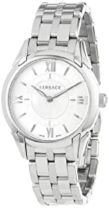 "Versace Womens VFF030013 ""Dafne"" Stainless Steel and Mother-of-Pearl Dial Bracelet Watch"