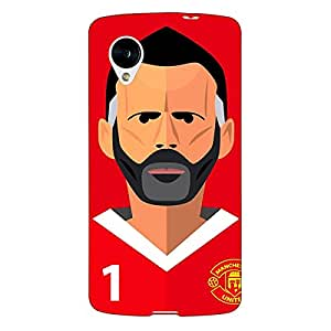 Jugaaduu Manchester United Ryan Giggs Back Cover Case For Google Nexus 5
