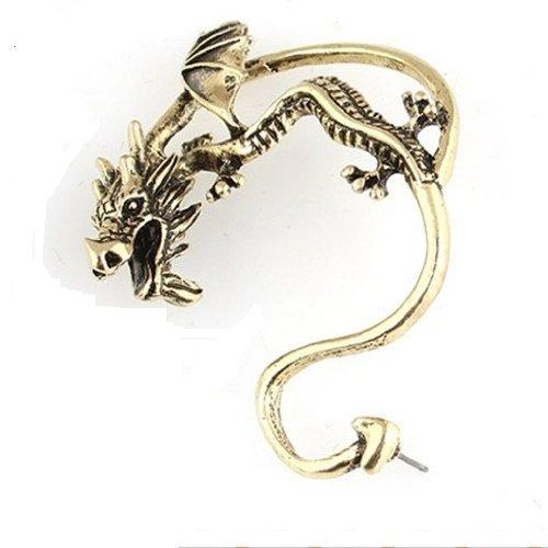 Alchemy Gothic Dragon Cuff Earring Bronze Tone Fashion Jewelry Collection