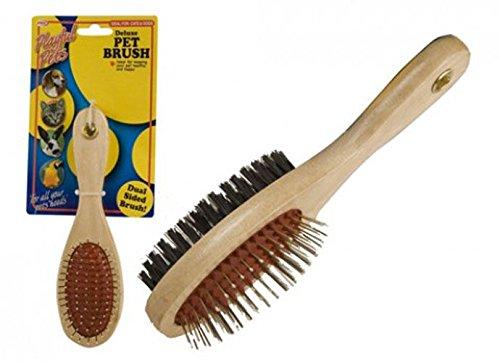 18cm-2-Sided-Soft-Steelpin-Wooden-Pet-Brush