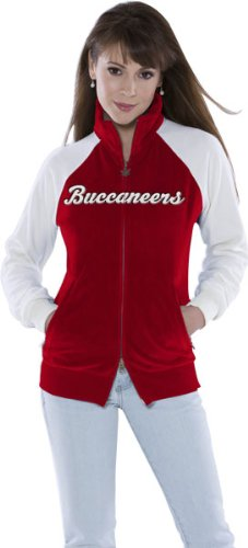 Tampa Bay Buccaneers Women's Full Zip Velour Cheer Jacket - Touch by Alyssa Milano at Amazon.com